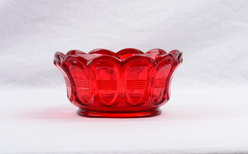 1980 S Fenton Ruby Red Empress Scalloped Bowl 45 00