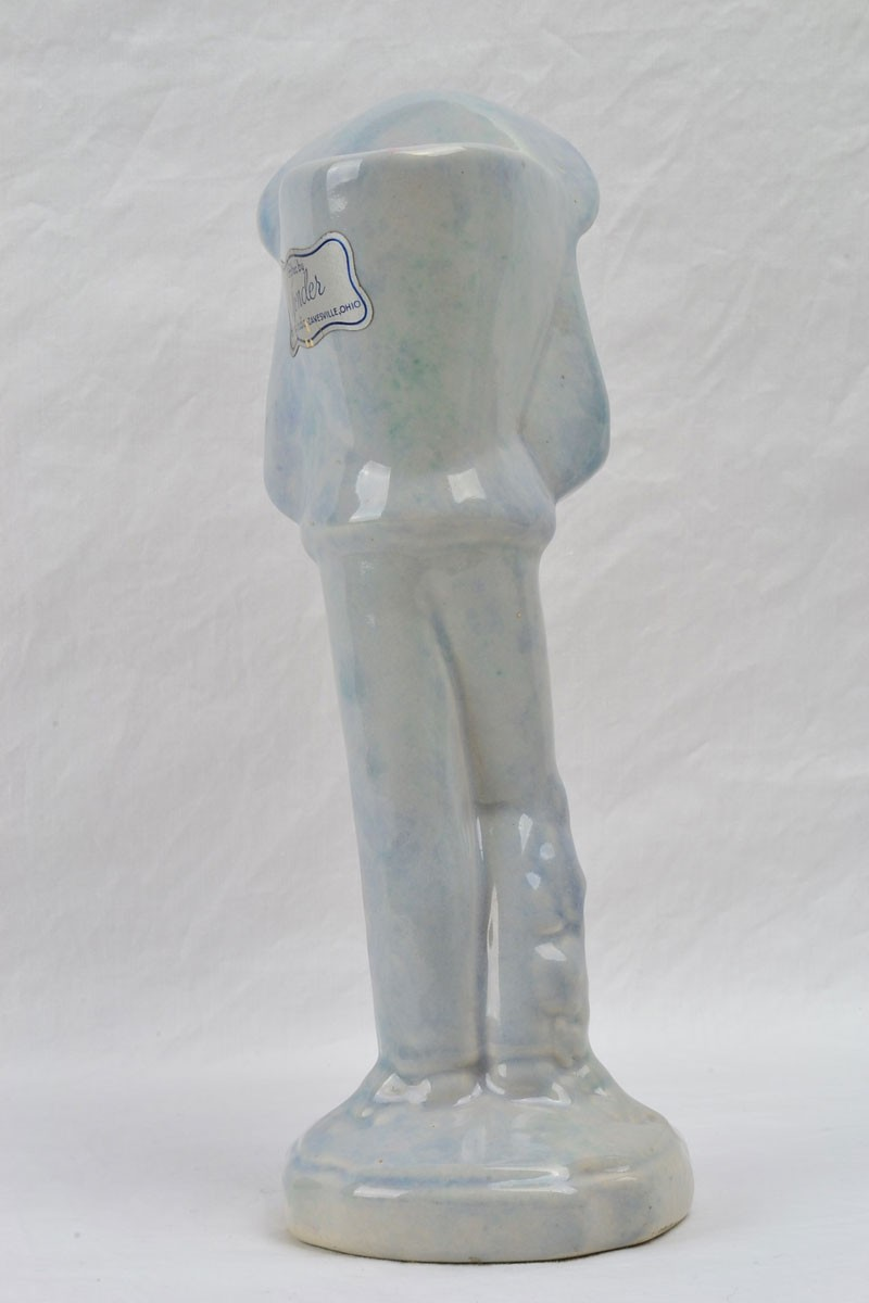 Gonder Pottery 1940 S Imperial Chinese Peasant Turqouise Crackle Vase 519 The Kings Fortune