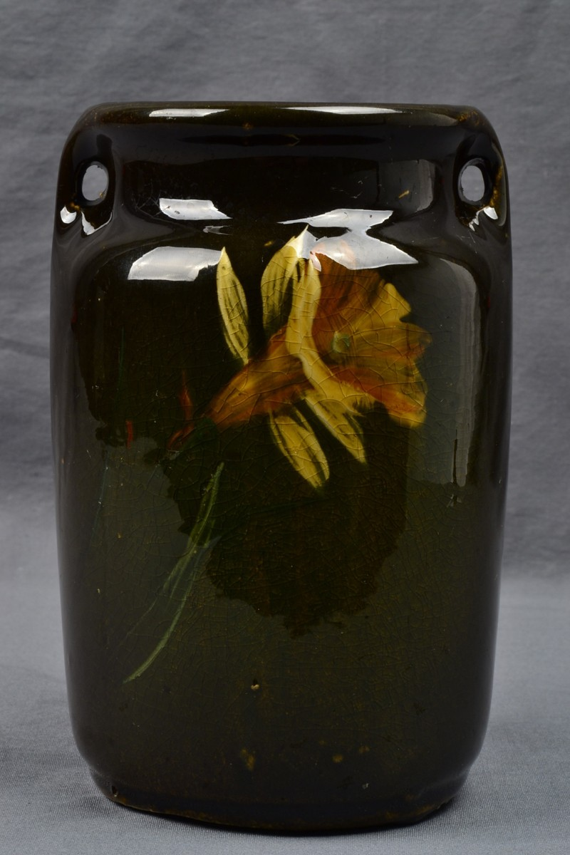 Mccoy Pottery 1905 Loy Nel Art Daffodil Vase 05 The