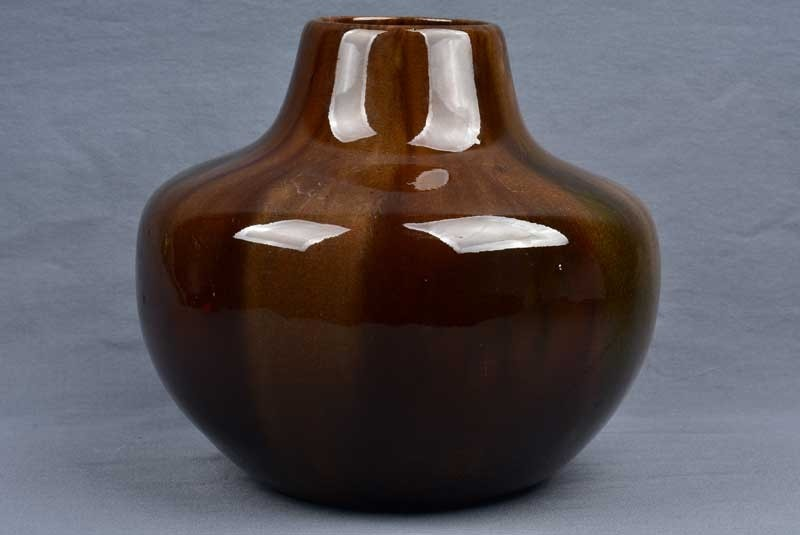 Owens Pottery 1898 Onyx Tiger Eye Large Gourd Vase 52 The Kings Fortune