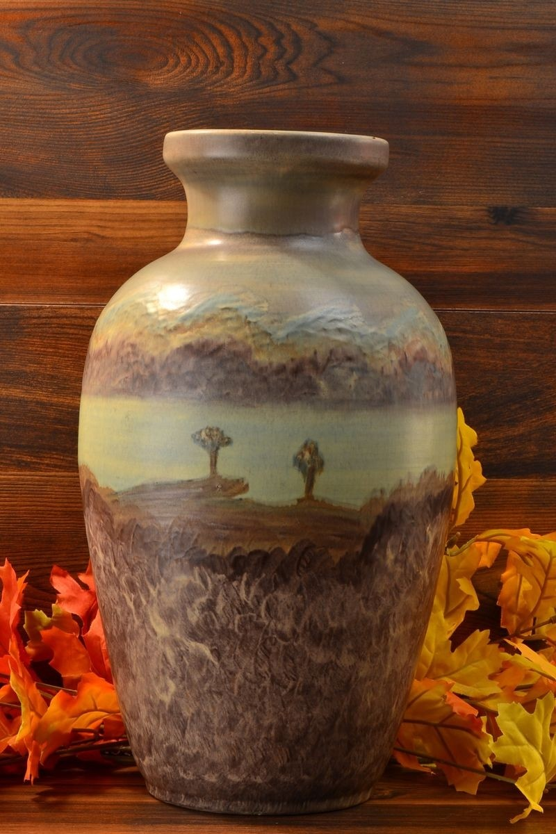 1910 Peters Amp Reed Pottery Landsun Scenic 25 Vase 615 00 The Kings Fortune Vintage And