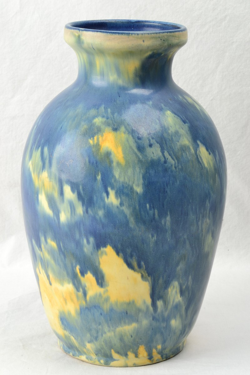 Peters Amp Reed Pottery 1910 Landsun Experimental Blue Glaze 25 Vase The Kings Fortune