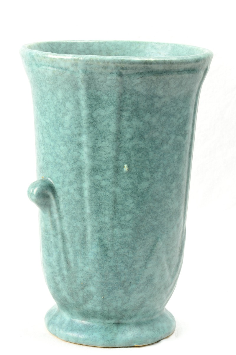 Robinson Ransbottom Pottery Company Victoria Green Vase 1938 The Kings Fortune