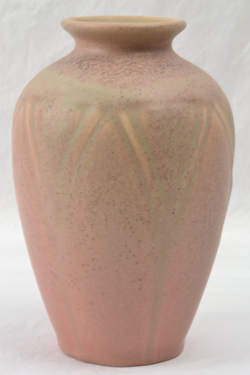 Rookwood Pottery 1920 Matte Pink Geometric A Amp C Vase 2434 The Kings Fortune