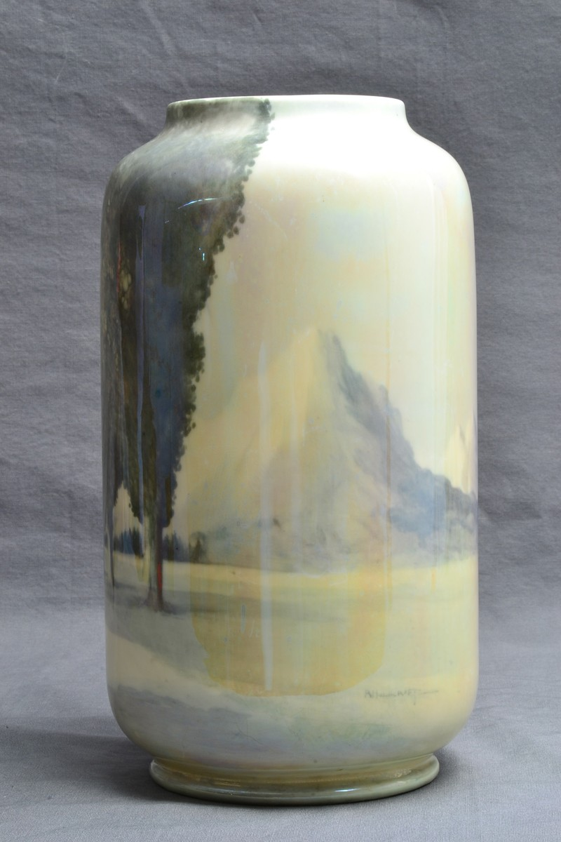 Royal Doulton Pottery Scenic Vase By R Holdcroft 1925 73 The Kings Fortune