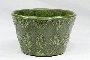 1970's McCoy Floraline Emerald Green Utility Bowl