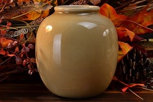 Rookwood Pottery Vase High Gloss Beige #6183F, 1944