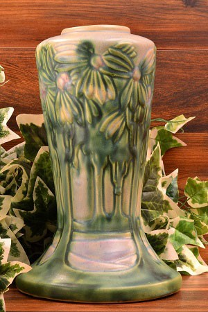 Vintage Roseville Pottery Vista Vase 10 Inch 45000 The Kings
