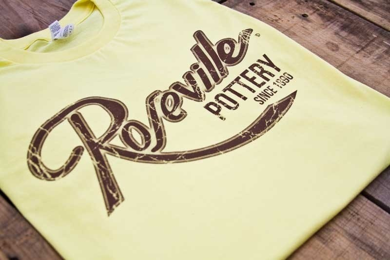 Roseville Pottery T-Shirts ---- Fashion Fit Tee --- Spring Yellow