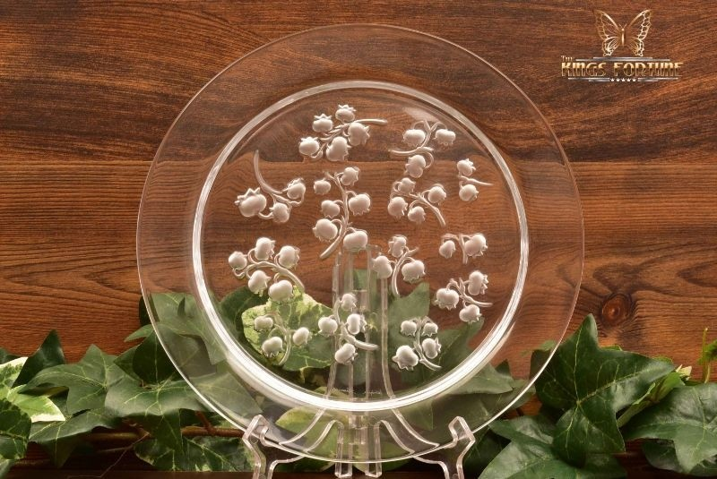 Lalique Crystal 1950-60 Muguet Lily of The Valley Dessert Plate