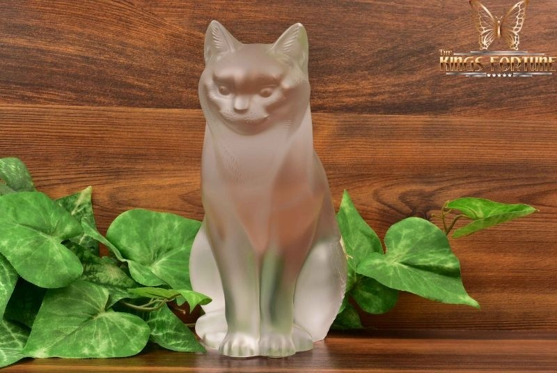 Lalique Crystal 1980s Chat Assis Sitting Cat #11603