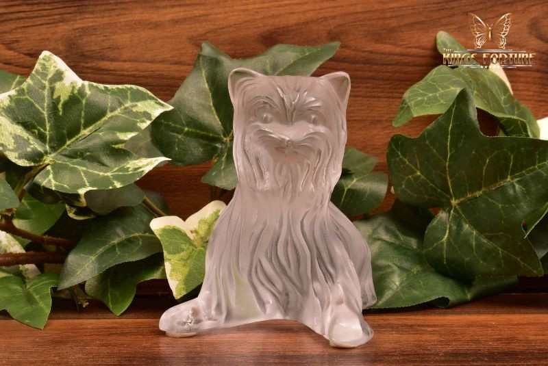 Lalique Crystal 1980's Yorkshire Terrier Figure