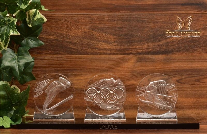 Lalique Crystal 1992 Olympic Paperweights