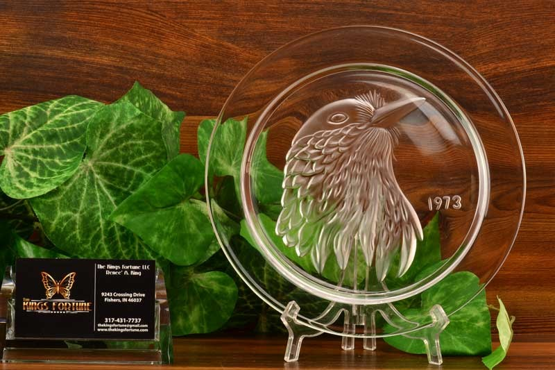 Lalique Crystal 1973 Jayquil Petite Geai Annual Plate