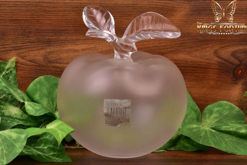 Lalique Crystal pre-1978 Grand Pomme Apple Perfume Bottle