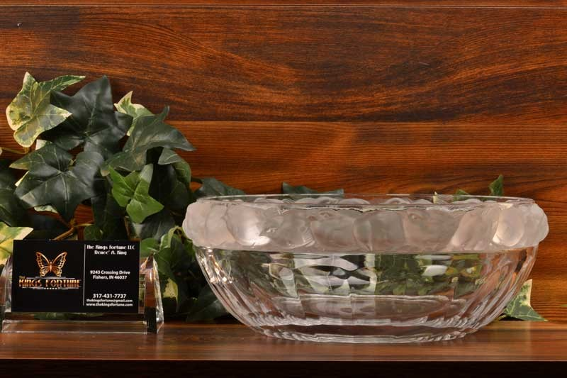 Lalique Crystal pre-1978 Mesanges Sparrow Salad Bowl