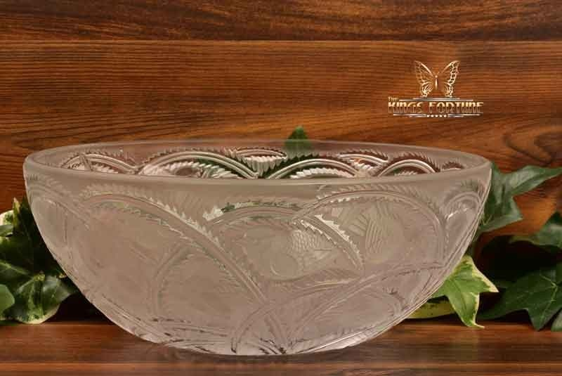 Lalique Crystal pre-1978 Pinsons Finches Bowl