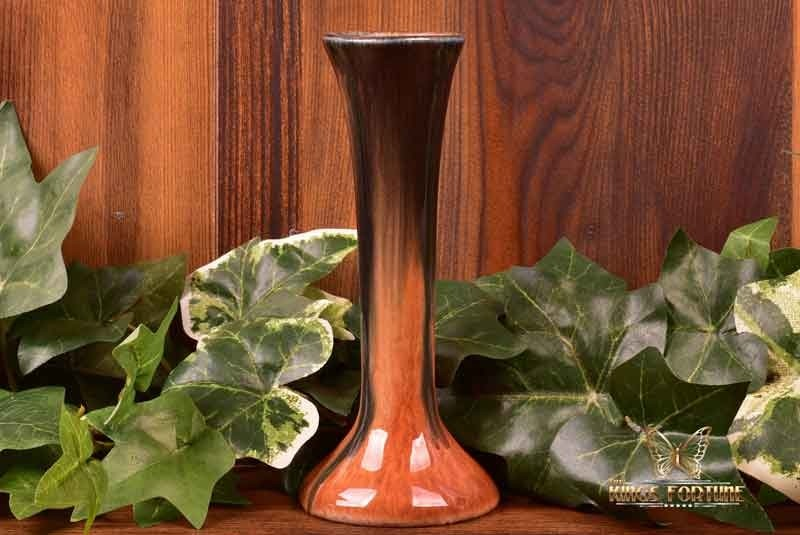Muncie Pottery 1929 Black Peachskin Tapered Bud Vase #109-6