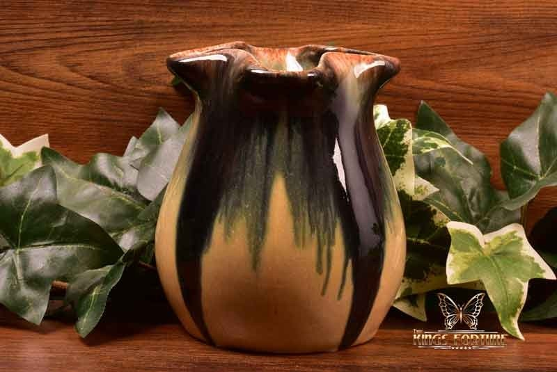 Muncie Pottery 1929 Blue Peachskin Pulled Corner Vase 413 4 The