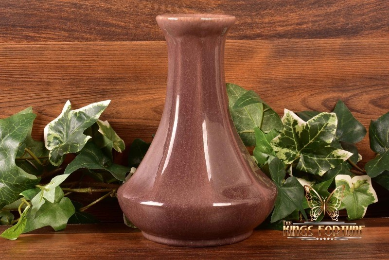 Muncie Pottery 1920's Gloss Dark Brown Column Lamp Base/Vase #134-7