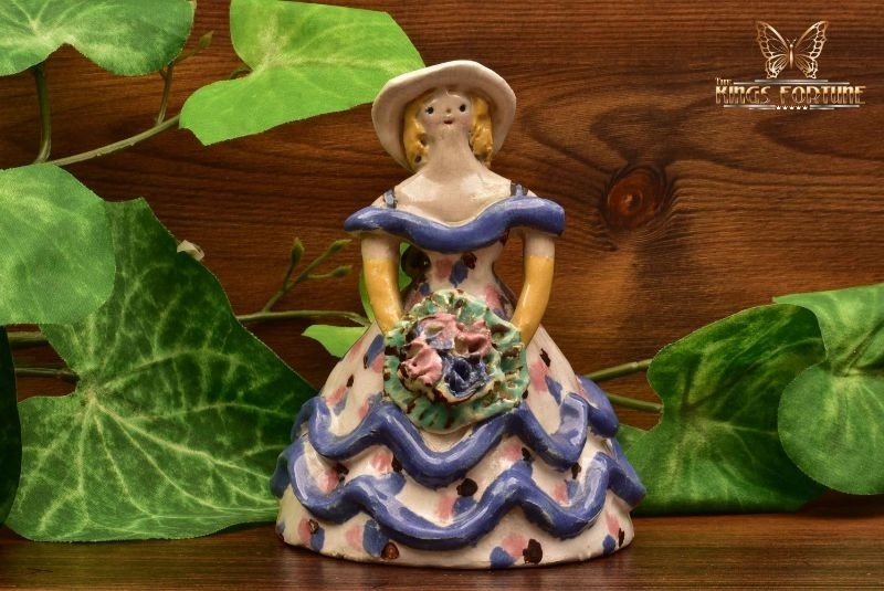 Overbeck Pottery 1911-55 Southern Belle Double Ruffle Dress Figure