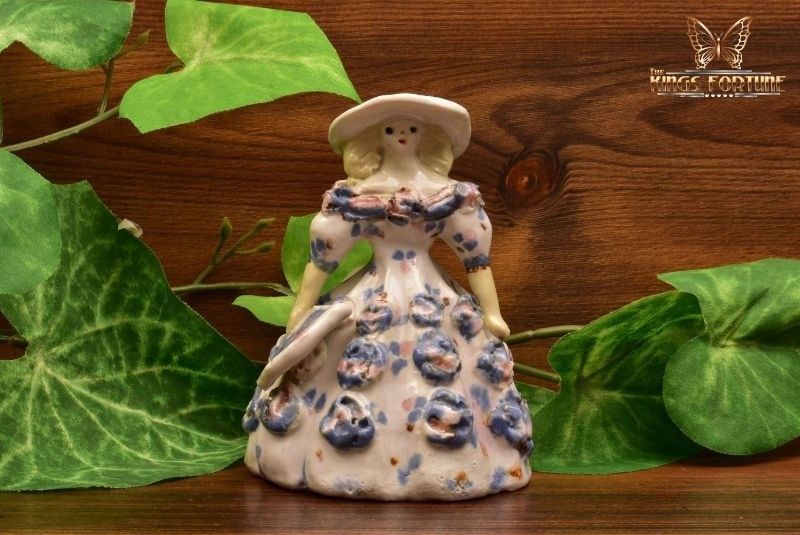 Overbeck Pottery 1911-55 Southern Belle Floral Dress and Fan Figure