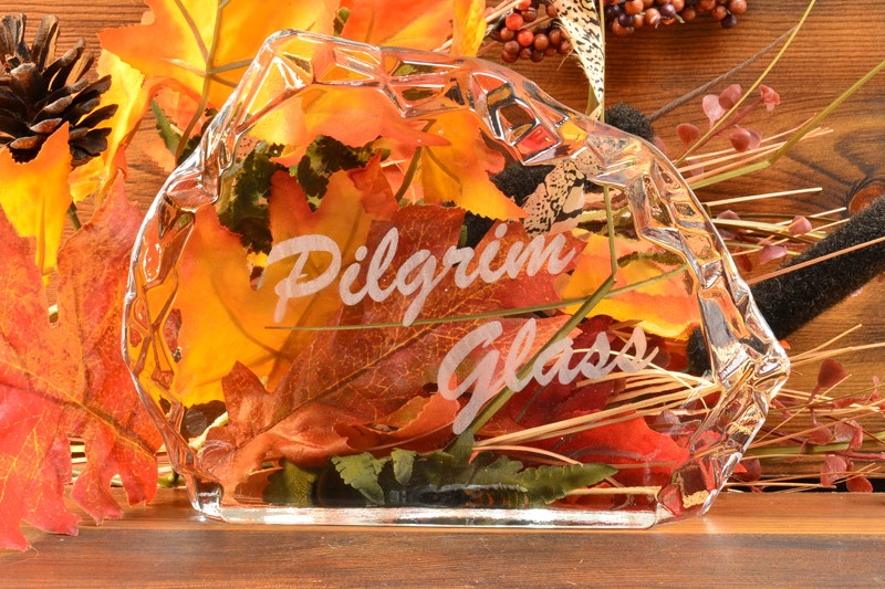 Pilgrim Glass 1960's Dealer Sign with Sticker