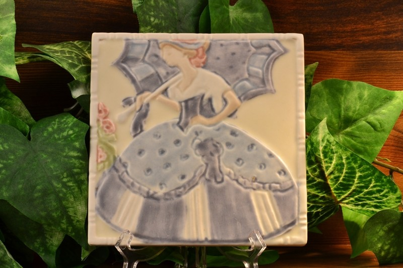 1922 Rookwood Trivet Tea Tile  Southern Belle #3069