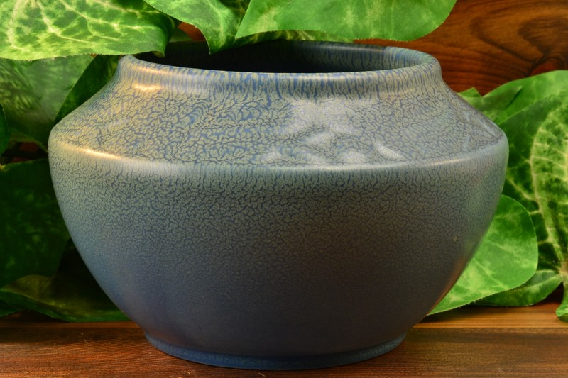 Rookwood Pottery 1921 Blue Frogskin Bowl #2179