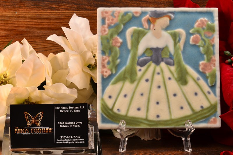 Rookwood Pottery 1925 Southern Bell Tea Tile #3070
