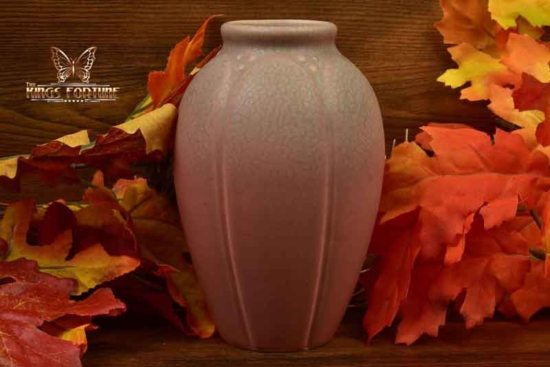 Rookwood Pottery 1927 Matt Pink Frogskin Lotus Leaf Vase #2088