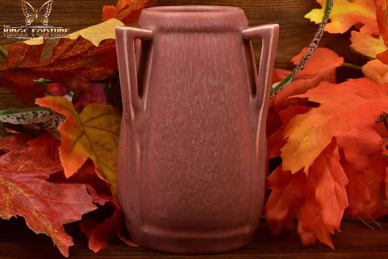 Rookwood Pottery 1929 Pink Frogskin 3 Handle Arts and Crafts Vase #2330