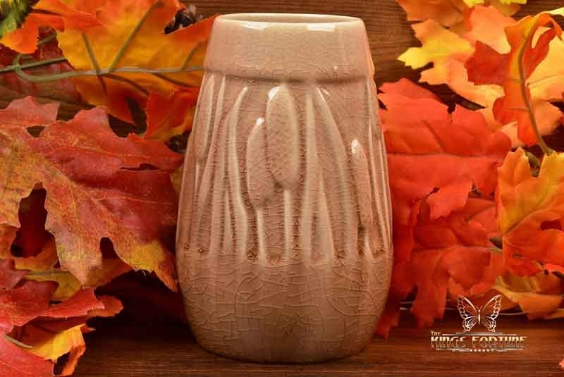 Rookwood Pottery 1948 Madder Wine Cattails Vase #2592 ATC Cincinnati, Ohio