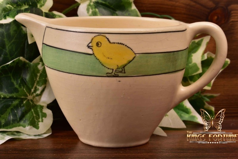 Roseville Pottery 1910-20 Juvenile Child's Chick Round Creamer #12