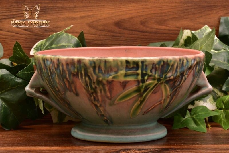 Roseville Pottery 1936 Pink Moss Bowl #291-5