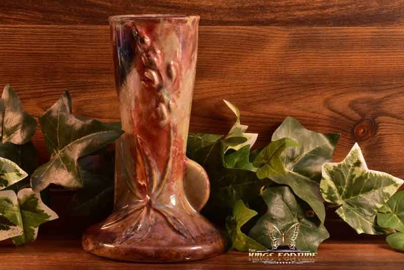 Roseville Pottery 1948 Raku-Type Reduction Glaze Wincraft Vase #281-6