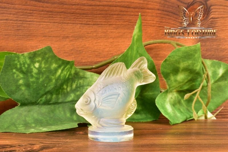 Sabino Opalescent Crystal 1960-80 Small Fish 'Poisson Barbarin' Figure