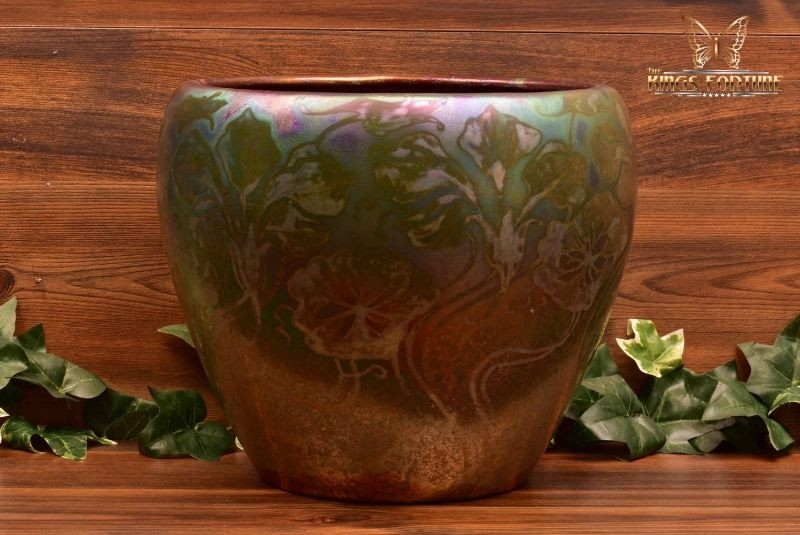 Weller Pottery 1902-07 Sicard Morning Glory Flowers and Vines Planter Jardiniere
