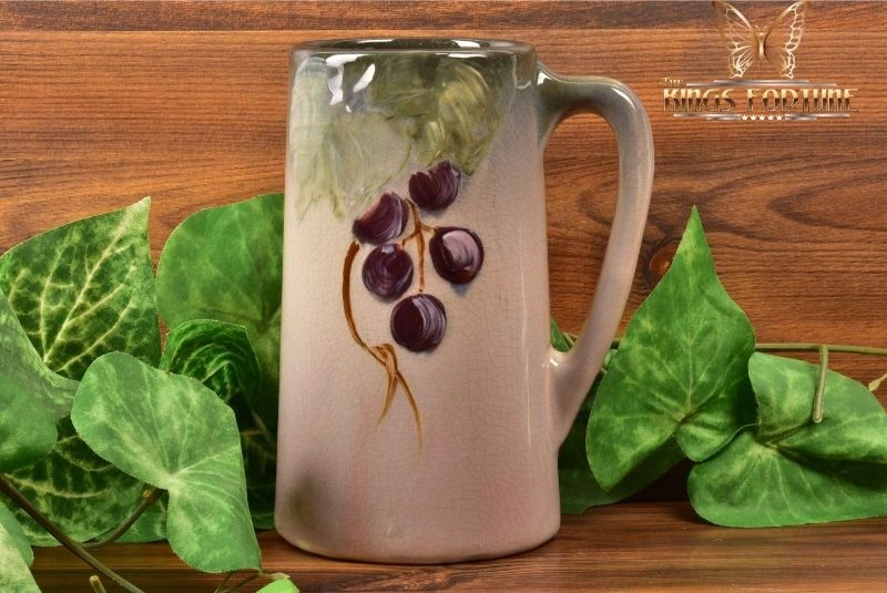 Weller Pottery 1906 Grapes on Leaves Etna Mug Stein
