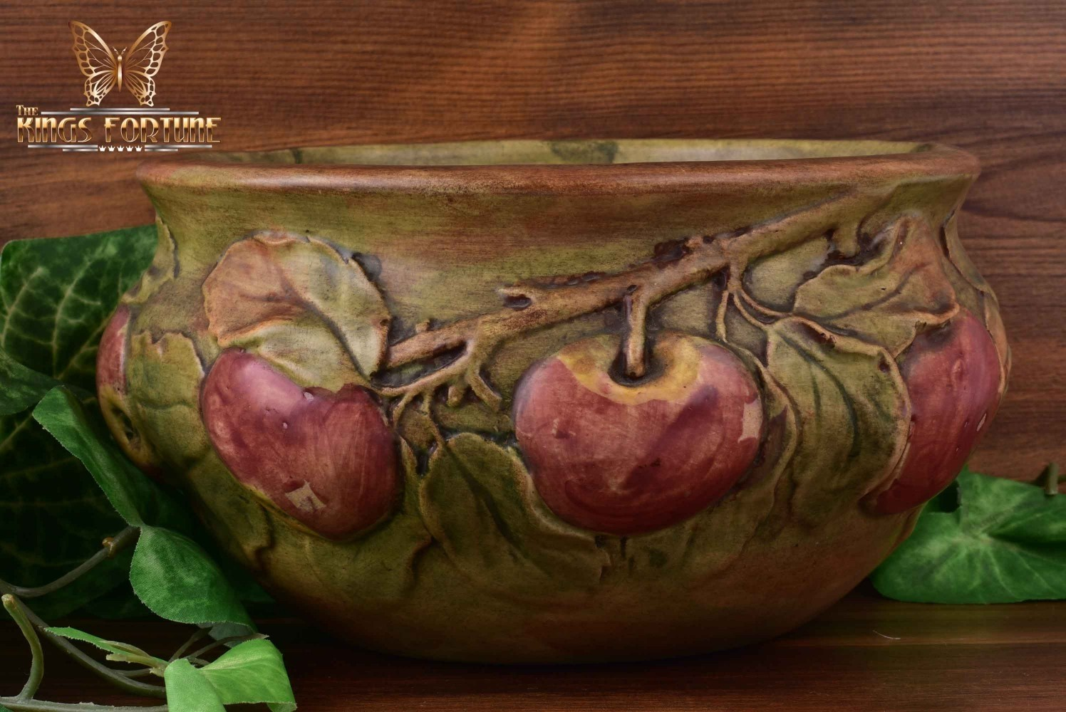 Weller Pottery 1915-20 Baldwin Apple Bowl Planter