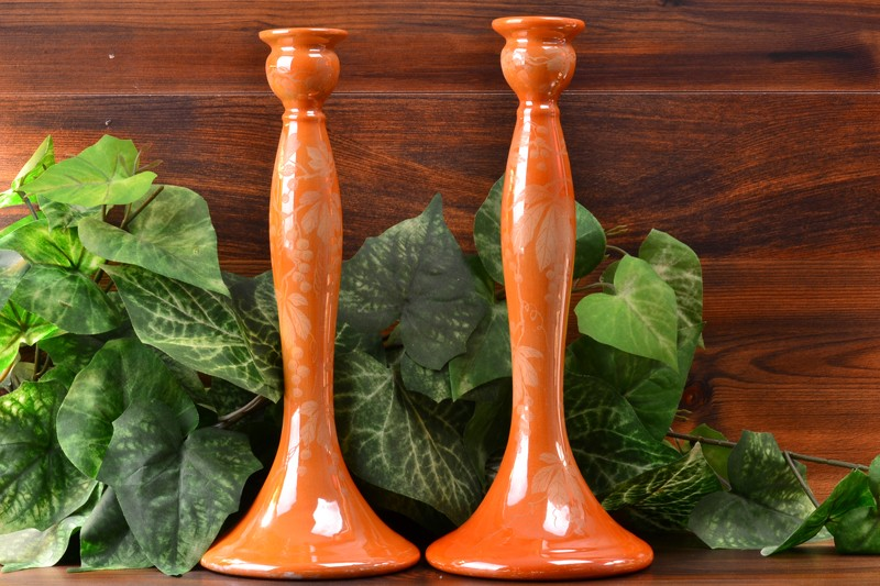 Weller Pottery 1920-25 Besline Tall Candle Holders