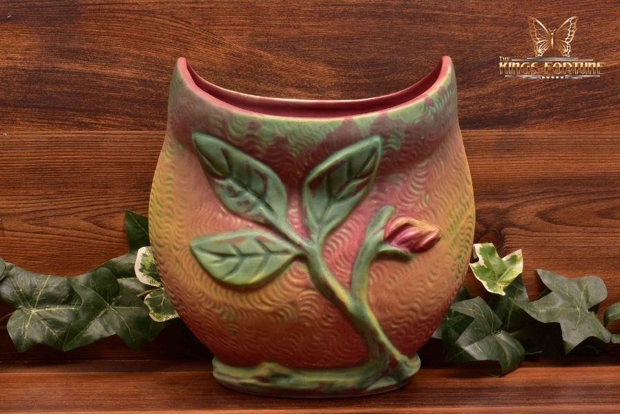 Weller Pottery 1920-33 Multi-Color Malverne Pillow Vase Artist Signed