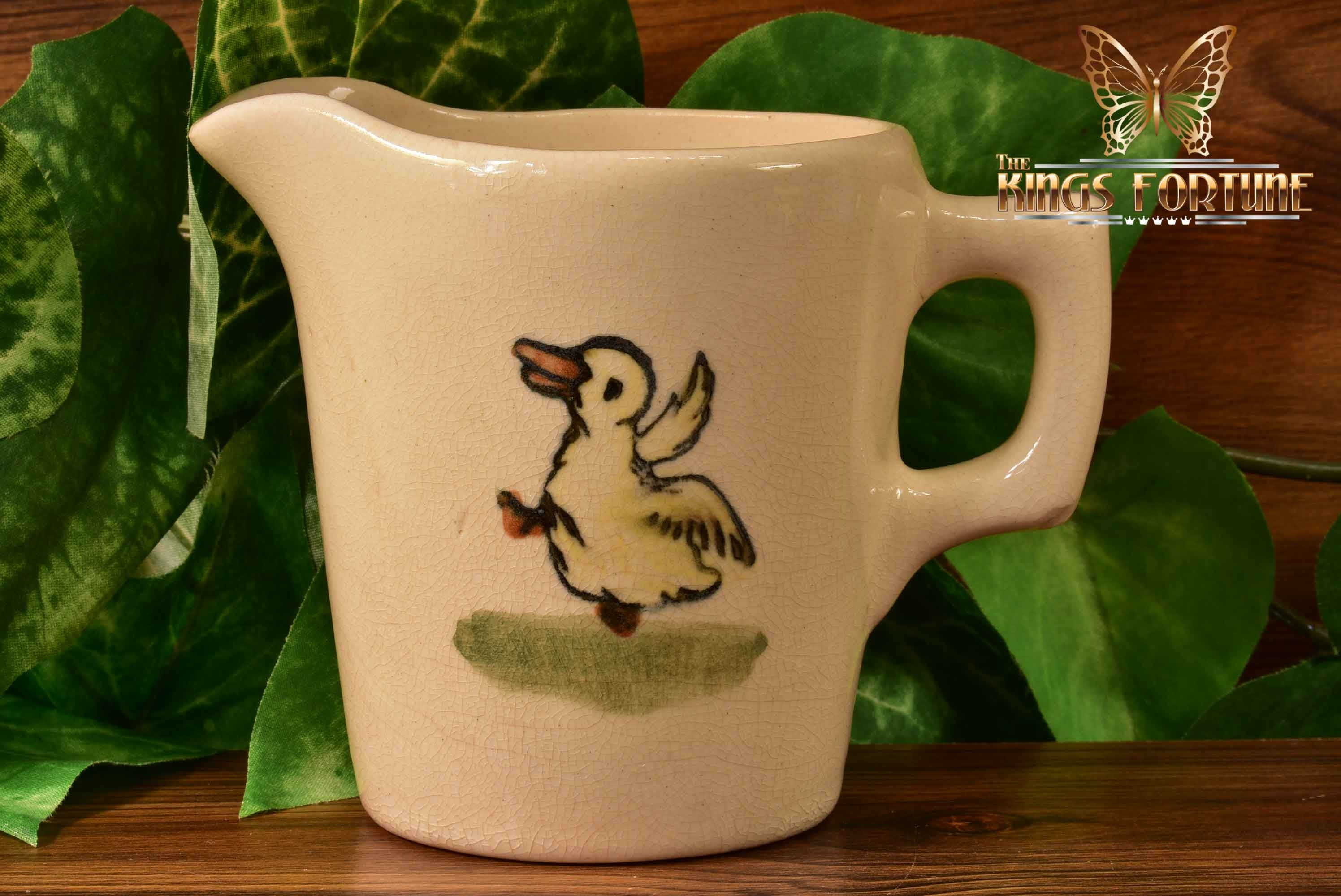 Weller Pottery 1920's Zona Child's Creamer with Dancing Duck