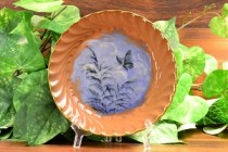 1885 Rookwood Butterfly Blue Limoge Porridge Bowl #87 unsigned