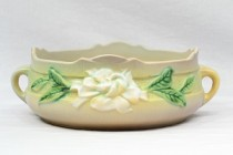 1950 Roseville Gray Gardenia 2 Handle Console Bowl #626-6