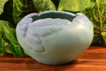 Van Briggle Ming Blue Acorn and Leaf Bowl