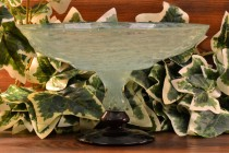 Charles Schneider 1920-30 Jade Green Art Glass Tazza