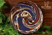 Desert Sands 1950-70 Blue Brown White Swirl Plate Stamped