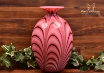 Fenton Glass 1975 Off-Hand Hyacinth Feather Vase Barber 186/450 COA