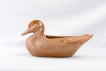Frankoma Brown Satin Duck Planter 208A